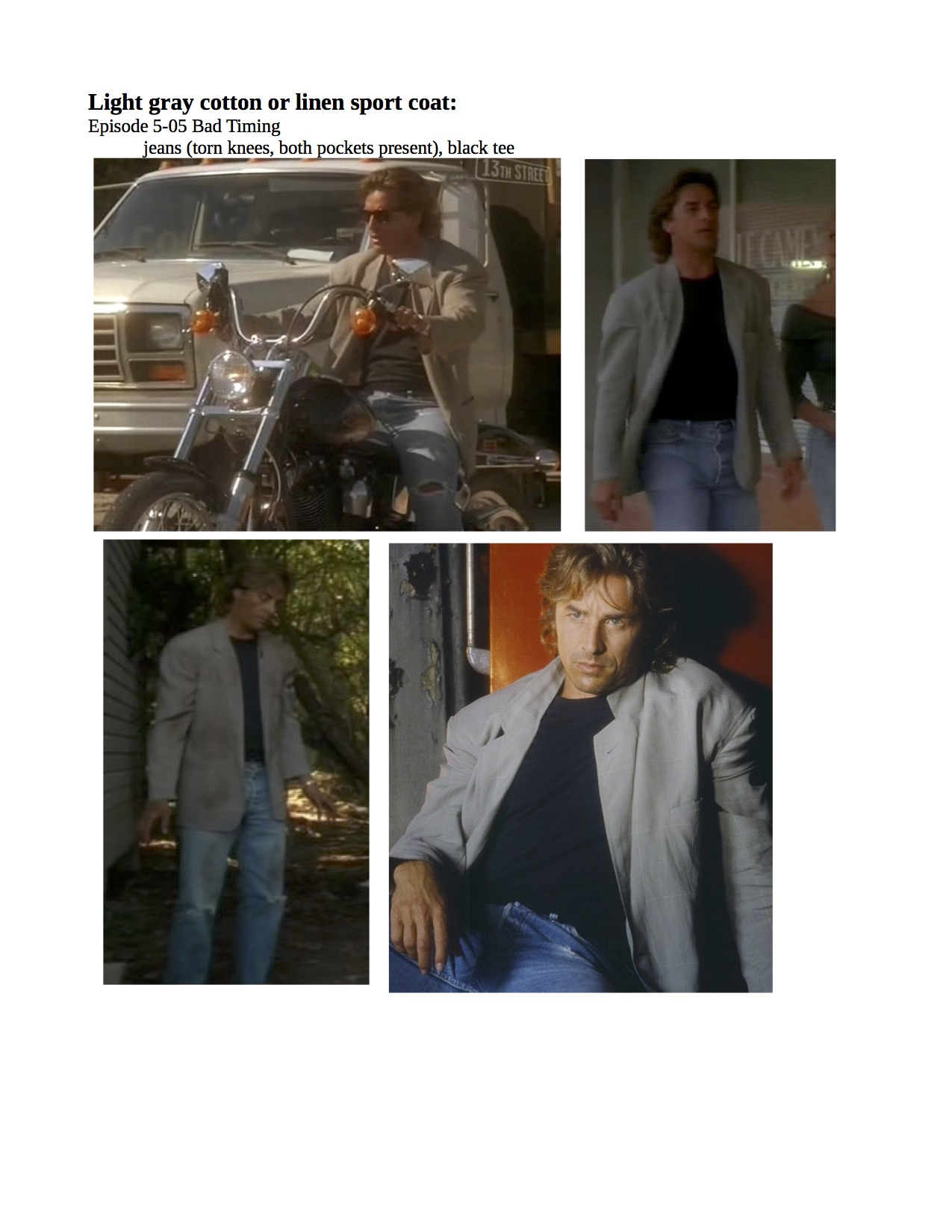 5th season crockett fashion - page 2 - miami vice fashion